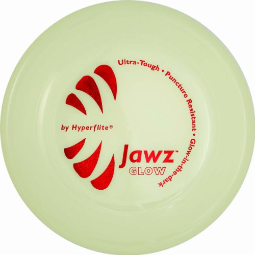 Hyperflite Jawz Competition Dog Disc 8.75 Inch, Worlds Toughest, Best Flying, Puncture Resistant, Dog Frisbee, Not a Toy Competition Grade, Outdoor Flying Disc Training Glow
