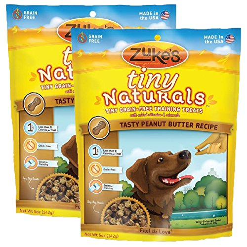 ZUKE TINY NATURAL PEANUT BUTTER/FLAX TREAT 5 Oz (2 PACK)
