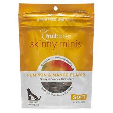 Fruitables Skinny Minis Pumpkin and Mango Low Calorie Soft and Chewy Training Treat