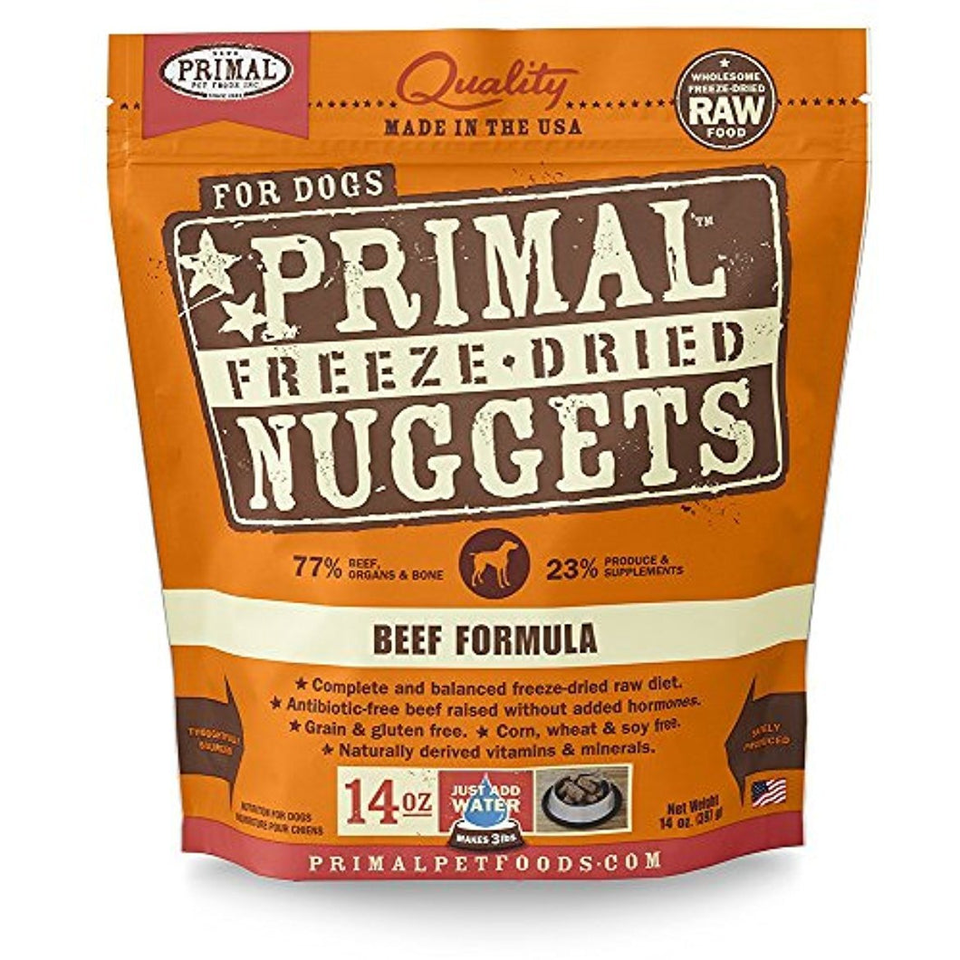 Primal Freeze Dried Pet Foods Beef 14OZ