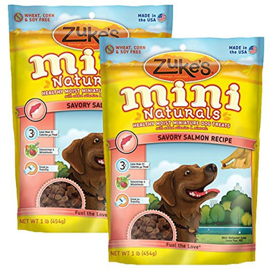 ZUKE MINI NATURAL SALMON DOG TREAT 16Z (2 PACK)