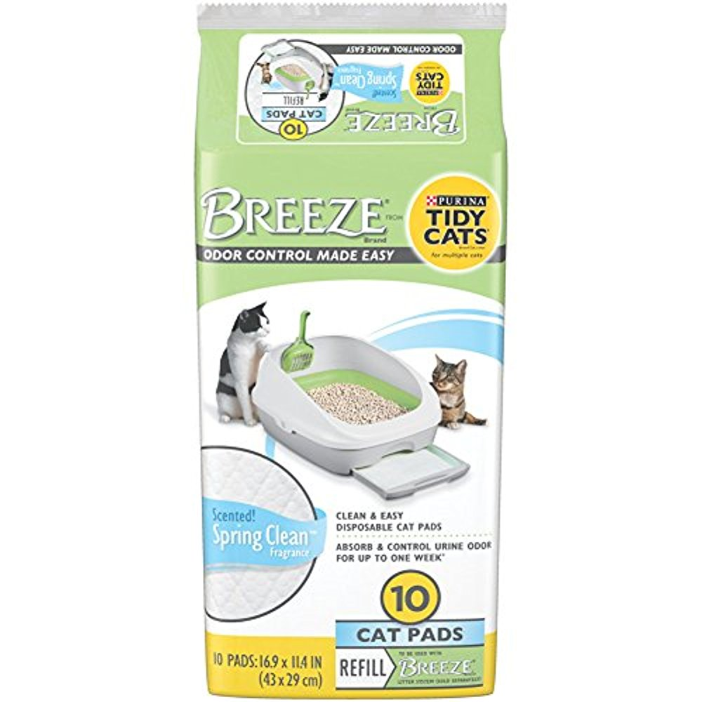 Purina Tidy Cats BREEZE Scented Cat Pads Refill, 10 count pack