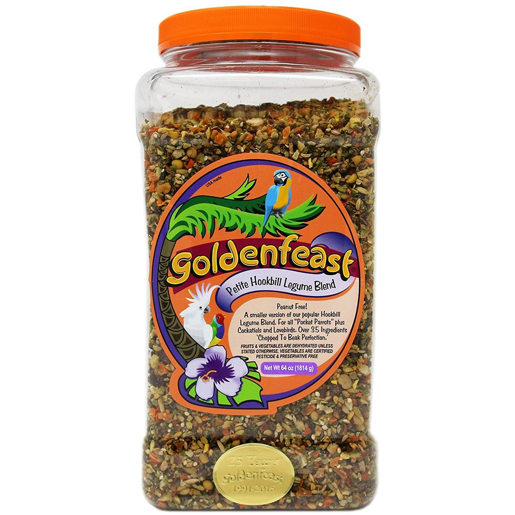 Goldenfeast Petite Hookbill Legume Blend 64 Ounces