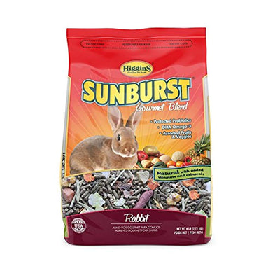 Higgins Sunburst Gourmet Rabbit Food Mix, 6 Lbs., Large