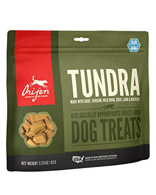 ORIJEN Freeze-Dried Dog Treats, Tundra, Biologically Appropriate & Grain Free 3.25oz