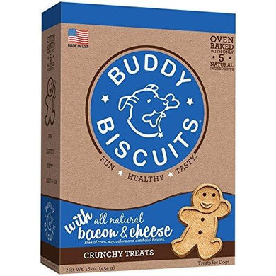 Cloud Star Original Buddy Biscuits - Bacon & Cheese Flavor - 16oz.