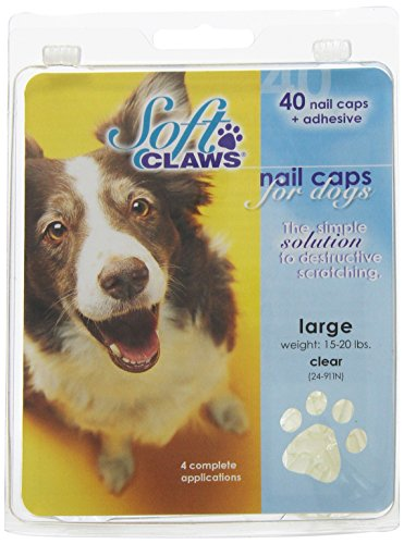 Soft Claws Dog Nail Caps Take Home Kit, Large, Clear