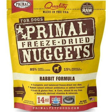 Primal Freeze Dried Pet Foods Rabbit 14OZ