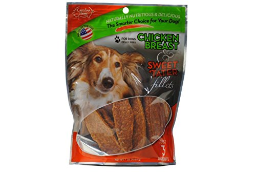 Carolina Prime Chicken Breast & Sweet Tater Fillets (1lb.) - Naturally Nutricious Dog Treats