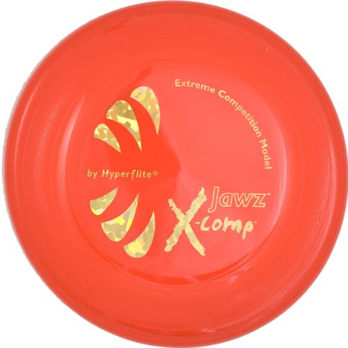 Hyperflite Jawz Competition Dog Disc 8.75 Inch, Worlds Toughest, Best Flying, Puncture Resistant, Dog Frisbee, Not a Toy Competition Grade, Outdoor Flying Disc Training Orange
