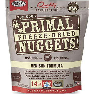 Primal Freeze Dried Pet Foods Vension 14OZ
