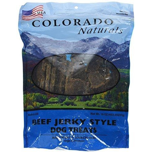 Colorado Naturals Beef Jerky Dog Treats. Made in USA with 100% U.S.D.A. Beef. 1Lb