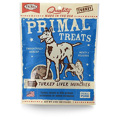 Primal Treats Freeze-Dried Turkey Liver Munchies