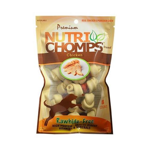 NutriChomps - Mini Knots W/ Wrap Rawhide Free Chicken Flavor - 8 Count