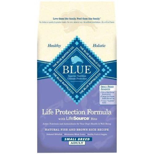 Blue Buffalo Dry Food for Small Breed Dogs, Natural Fish and Brown Rice Recipe, 6-Pound Bag