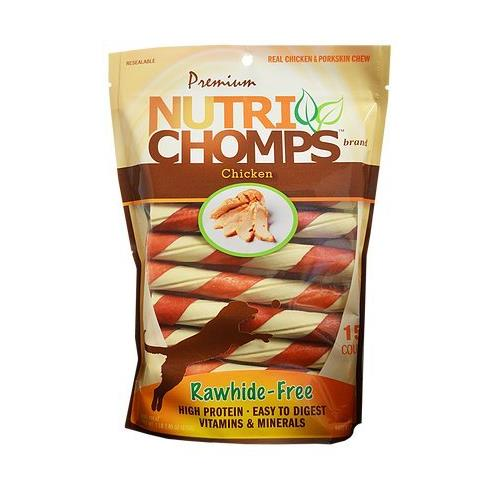Nutri Chomps - Twists W/ Wrap Rawhide Free Chicken Flavor - 15 Count