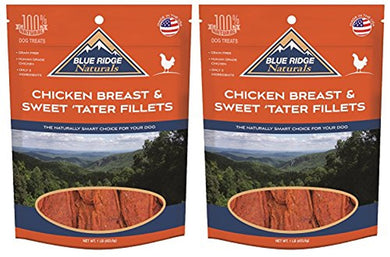 Blue Ridge Naturals Chicken Breast and Sweet Tater Fillets 1 lb (2 Pack)