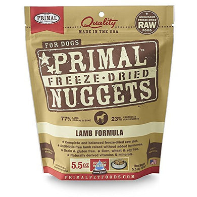 Primal Freeze-Dried Nuggets Lamb Formula for Dogs 5.5OZ