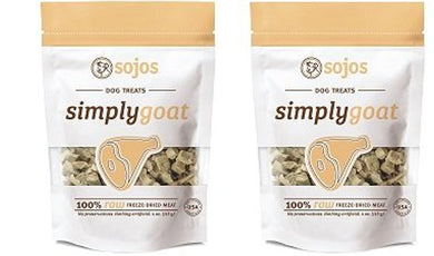Sojos Simply Goat Freeze-Dried Dog Treat, 4 Ounces each (2 Pack)