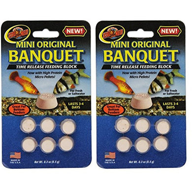Zoo Med Laboratories AZMBB2 Mini Banquet Block Feeders, 12 Count