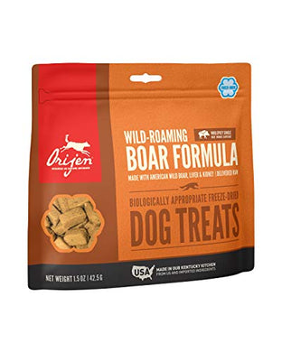 ORIJEN Freeze-Dried Dog Treats, Wild-Roaming Boar, Biologically Appropriate & Grain Free 1.5oz