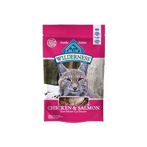 Blue Buffalo Wilderness Chicken & Salmon Grain Free Cat Treats 2 oz(2Pack)