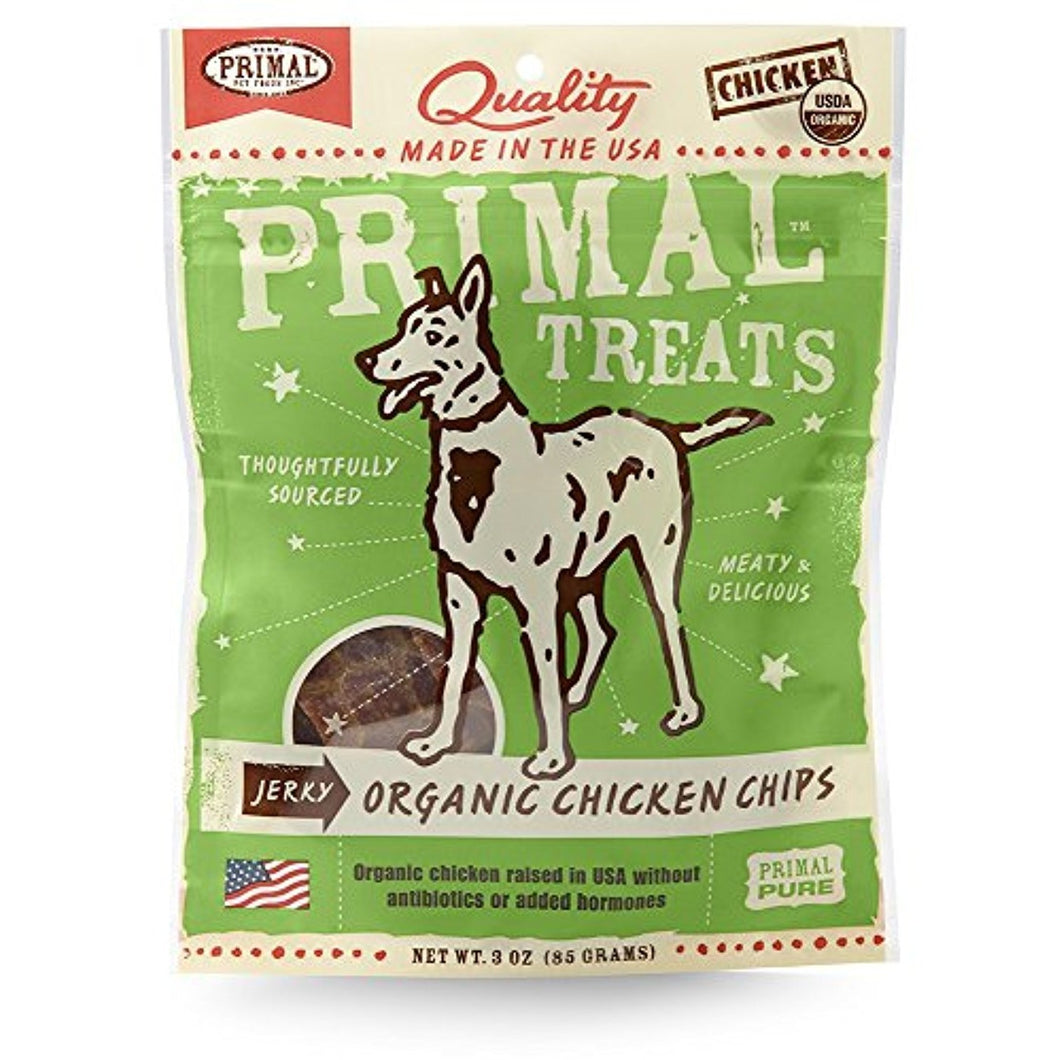 Primal Grain Free Jerky Chips Dog Treats Chicken