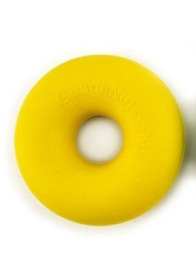 Goughnuts Rubber Dog Chew Toy Med .75 Yellow