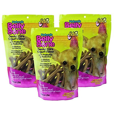 Fido Belly Bone Yogurt Dog Bone - Mini 21ct (Pack of 3)