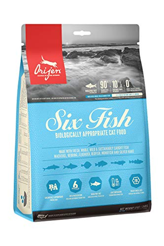 ORIJEN Dry Cat Food, Six Fish, Biologically Appropriate & Grain Free 12oz