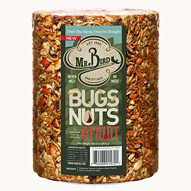 Mr. Bird Wild Bird Seed Large Cylinder Bugs, Nuts & Fruit 4 lbs. 2 oz.
