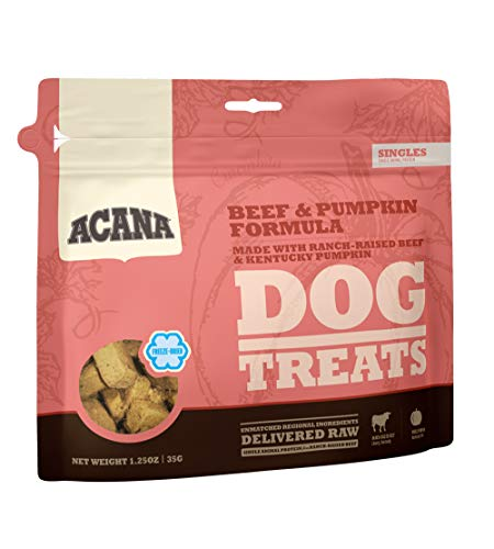 ACANA Singles Limited Ingredient Freeze-Dried Dog Treats, Beef & Pumpkin, Biologically Appropriate & Grain Free 1.25oz