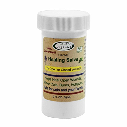 Mad About Organics All Natural Herbal Skin Wound Healing Salve for all Pets 2OZ