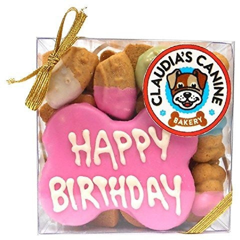 Claudias canine bakery Happy Birthday - Pink  7 oz. 013061