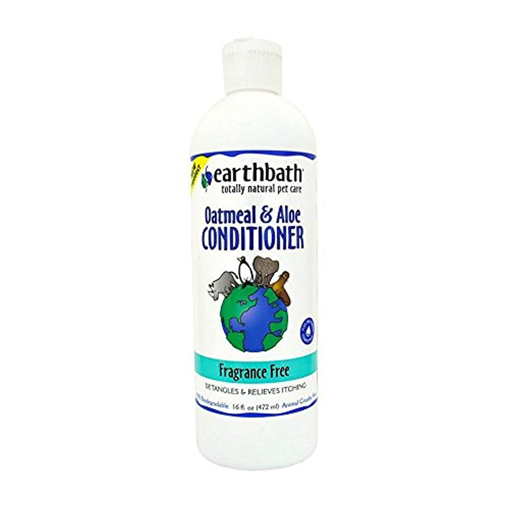 Earthbath Fragrance Free Oatmeal and Aloe Conditioner, 16 oz