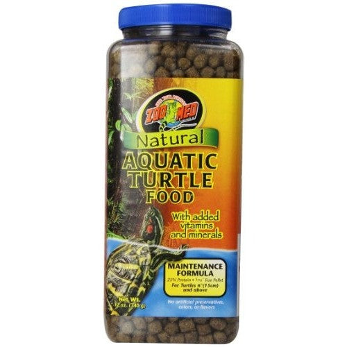 Zoo Med Natural Aquatic Turtle Food, Maintenance Formula, 12-Ounce