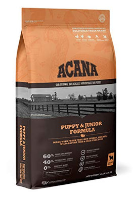 ACANA Heritage Dry Dog Food, Puppy & Junior, Biologically Appropriate & Grain Free 13lb