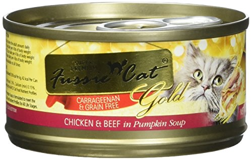 Fussie Cat FCC021 Super Premium Chicken & Beef Formula in Pumpkin Soup (24/1 Pack), 2.82 oz/One Size