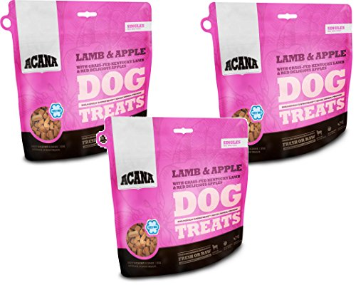 Acana Singles Dog Treats - Lamb and Apple, 3.25oz Each (3 Pack)