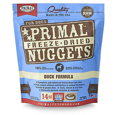 Primal Freeze Dried Pet Foods Duck 14OZ