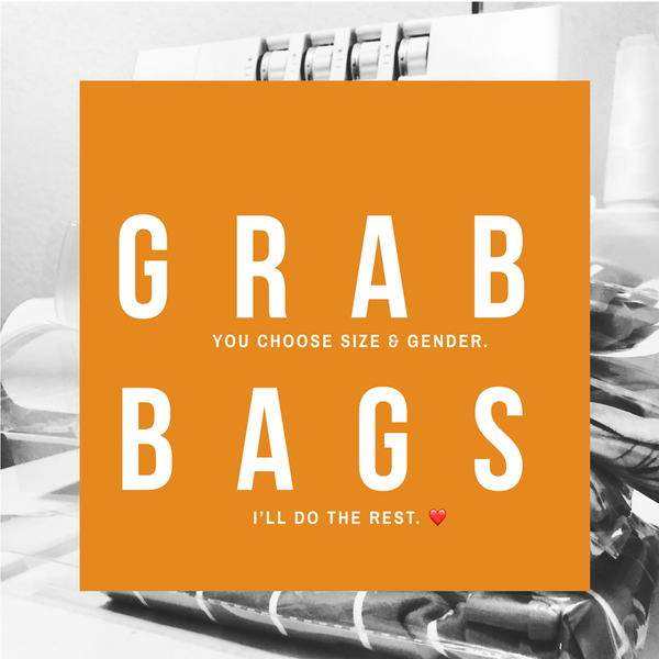 surprise grab bags for baby and kids clothing.