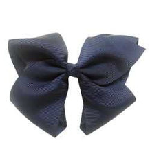 Navy Extra Large Bow Hair Clip - The Cutest Extra Large Bow Hair Clip In Classy Navy