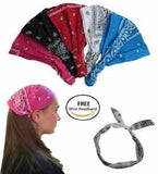 Paisley Bandana Headbands - Hair Accessories - Wide Headbands - Fashion Headbands CoverYourHair