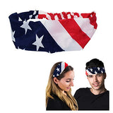 Patriotic Headband - Unisex - American Flag Headband - Patriotic Hair Accessories - Flag Headband by CoverYourHair