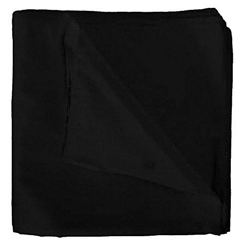 "Bandanas By the Dozen 100% Cotton, Head Wrap 22"" X 22"" Solid Black by CoverYourHair"