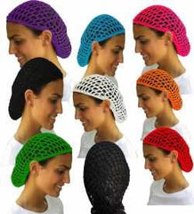 12 Beautiful Colored Short Hair Net Snoods - Value Pack By CoverYourHair