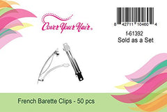 CoverYourHair French Barrette Hair Clips - 50 Pcs -2 1/4 Inch- French Hair Clips To Decorate - Craft Clips