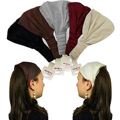 Wide Sport Headband - Cotton Headbands - Yoga Hairband - 5 Pack by CoverYourHair
