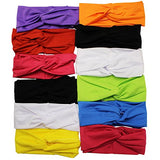 Head Wrap Headband for Women - Stretch Headbands - 12 Pack by CoverYourHair