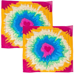 CoverYourHair Tie Dye Bandana - 2 Pack - Colorful Bandana - Party Bandanas - Rainbow Bandanna